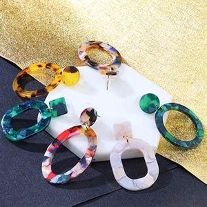Jewelry - BOGO FREE! Bohemian Acrylic Dangle Stud Earrings